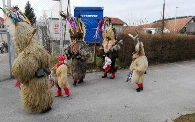Obisk kurentov na podružnični šoli Zgornja Polskava