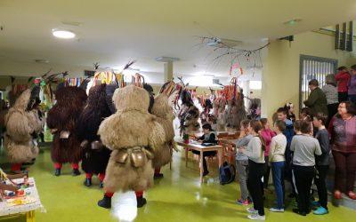 Obisk kurentov na podružnični šoli Pragersko