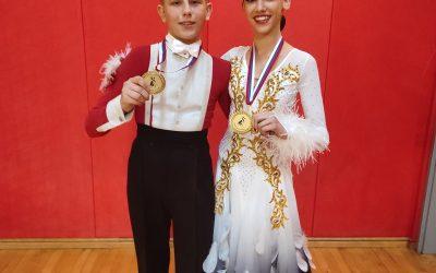 Državna prvaka med mladinci v standardnih in latinskoameriških plesih