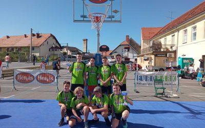 Zmaga učencev OŠ Antona Ingoliča Spodnja Polskava na turnirju trojk